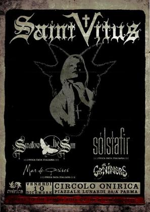 Live report Saint Vitus + Swallow The Sun + Solstafir + The Graviators + Wino (Onirica Club, Parma)